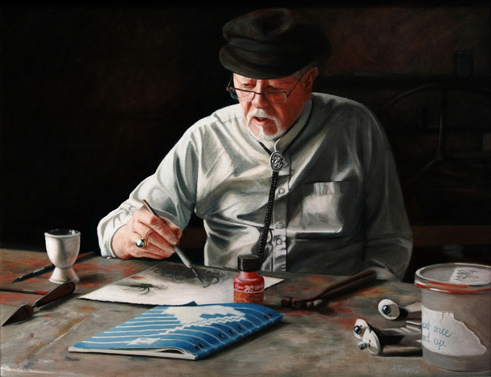 Robert Juniper portrait oil painting by Kirsten Sivyer