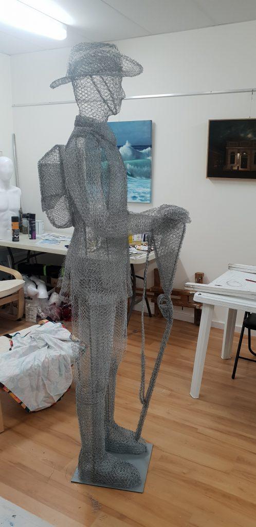 ghost soldier Albany WA wire spirit sculpture