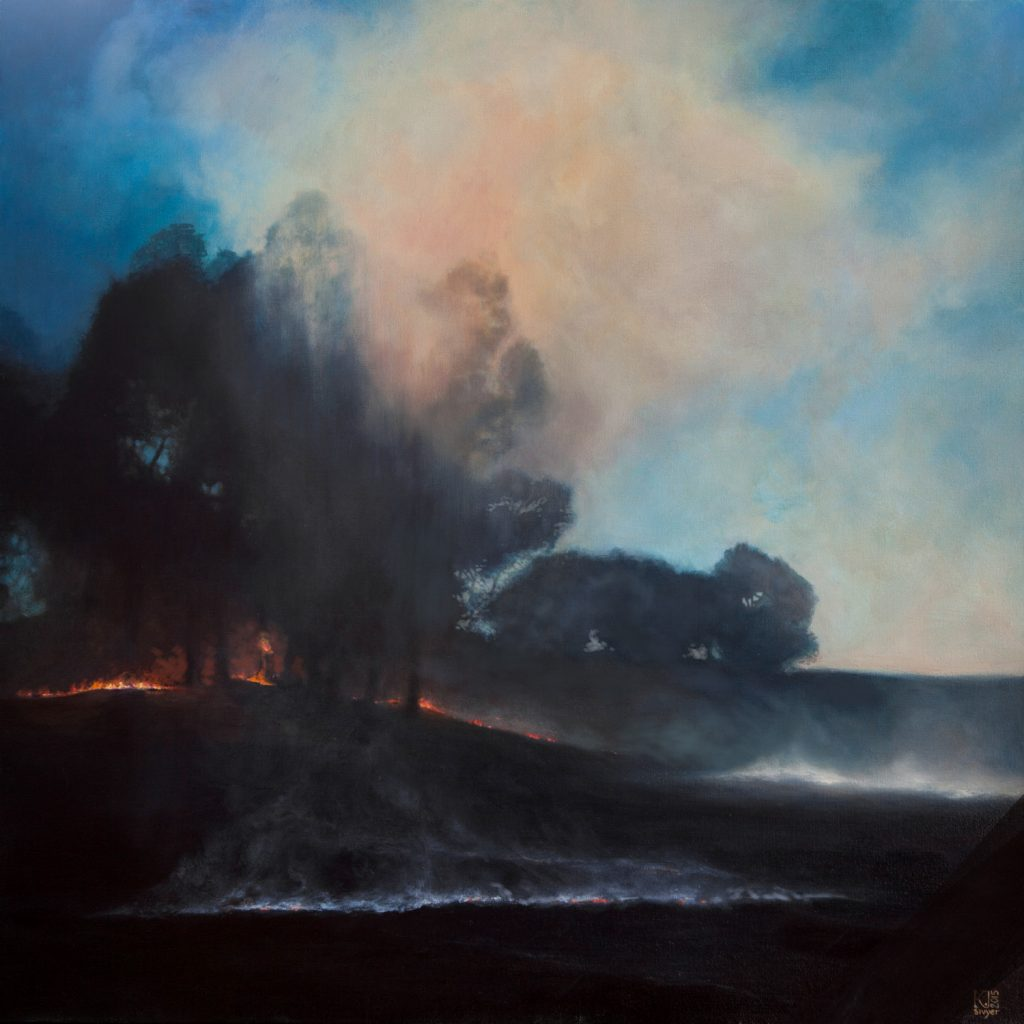 Kirsten Sivyer oil painting clearing